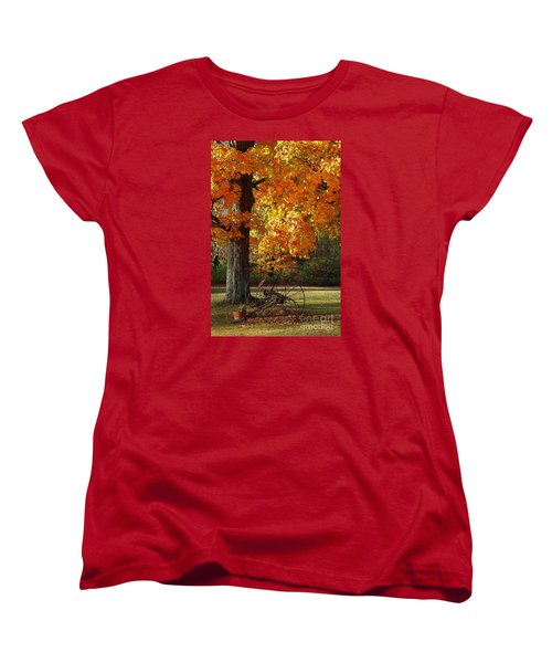Women's T-Shirt (Standard Cut) featuring the drawing October Day by Diane E Berry