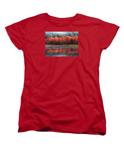 October Trees - Autumn  Women's T-Shirt (Standard Cut) by MTBobbins Photography