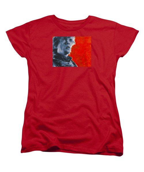 Women's T-Shirt (Standard Cut) featuring the painting Tyrion Lannister by Luis Ludzska