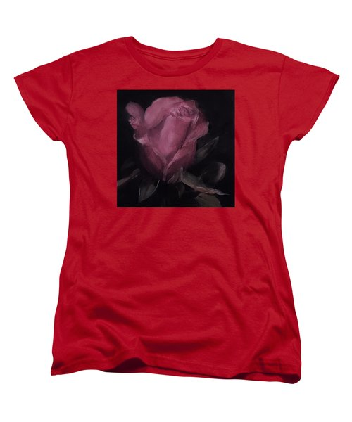 Oil Rose Painting Women's T-Shirt (Standard Cut) by Michele Carter