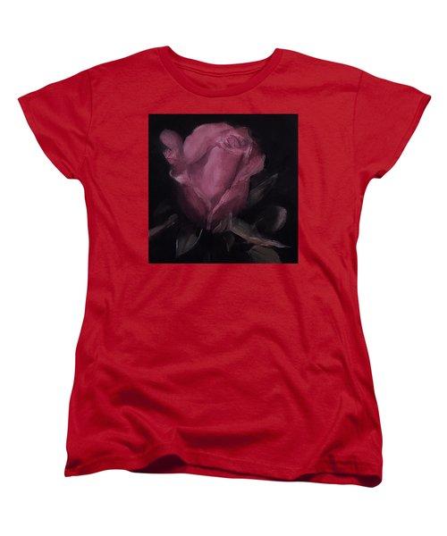 Oil Rose Painting Women's T-Shirt (Standard Cut)