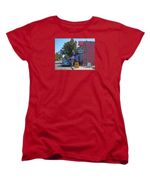 Ok Bicycle Yellow Sign Women's T-Shirt (Standard Cut) by Michael Thomas
