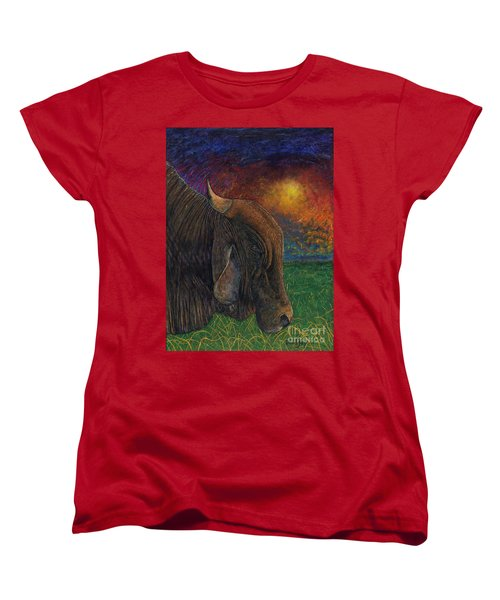 Okeechobee Brahman Women's T-Shirt (Standard Cut) by David Joyner