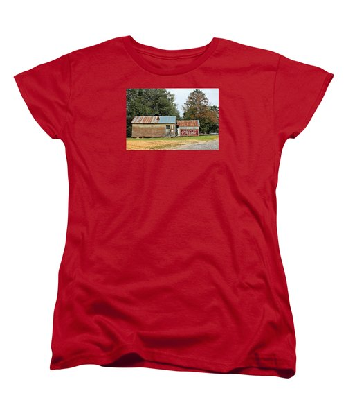 Old Buildings At Burnt Corn Women's T-Shirt (Standard Cut) by Lynn Jordan