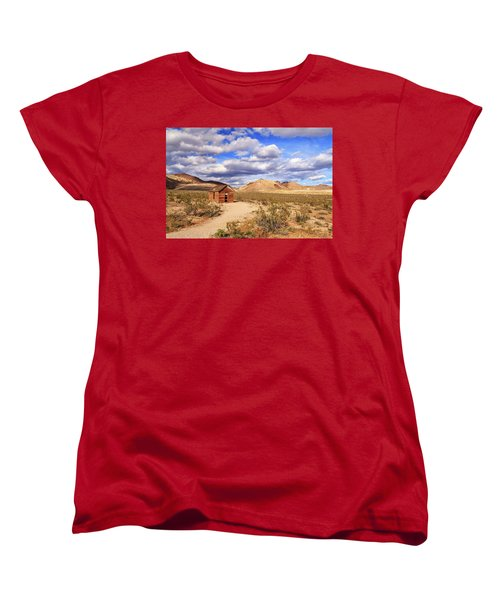Women's T-Shirt (Standard Cut) featuring the photograph Old Cabin At Rhyolite by James Eddy