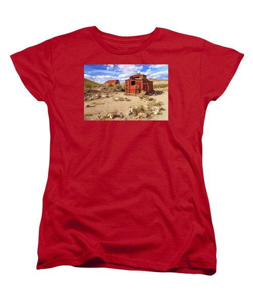 Women's T-Shirt (Standard Cut) featuring the photograph Old Caboose At Rhyolite by James Eddy