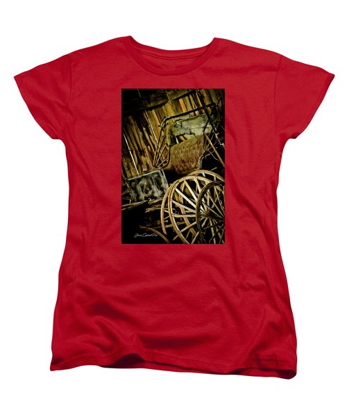 Women's T-Shirt (Standard Cut) featuring the photograph Old Carriage by Joann Copeland-Paul