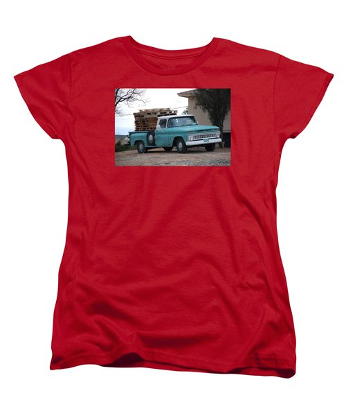 Women's T-Shirt (Standard Cut) featuring the photograph Old Chevy by Rob Hans