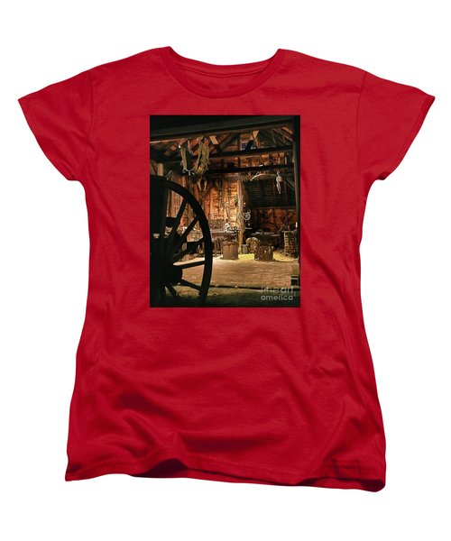 Women's T-Shirt (Standard Cut) featuring the photograph Old Forge by Tom Cameron