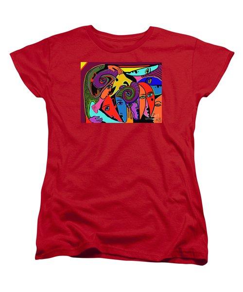 Old Friends Women's T-Shirt (Standard Cut) by Hans Magden