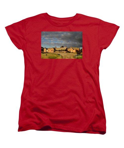 Women's T-Shirt (Standard Cut) featuring the photograph Old Ghan Railway Restaurant by Douglas Barnard