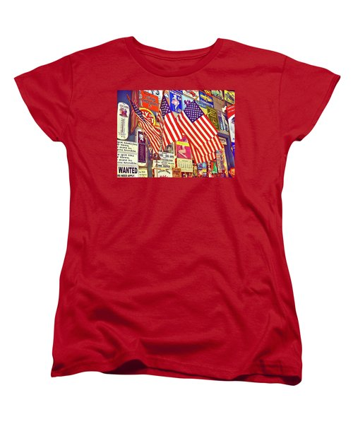 Women's T-Shirt (Standard Cut) featuring the photograph Old Glory by Joan Reese