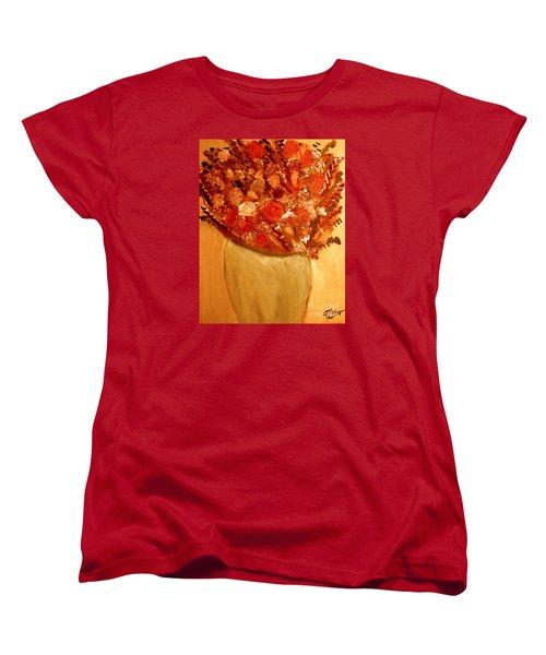 Women's T-Shirt (Standard Cut) featuring the painting Old Green Vase by Bill OConnor