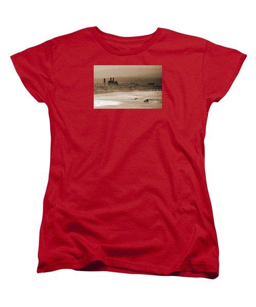 Old Hermosa Beach Women's T-Shirt (Standard Cut) by Ed Clark