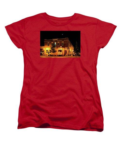 Old Hotel Moonlight Women's T-Shirt (Standard Cut) by Dale R Carlson