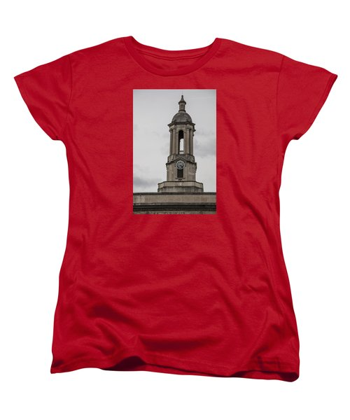 Old Main From Front Clock Women's T-Shirt (Standard Cut) by John McGraw