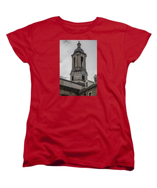 Old Main Penn State Clock  Women's T-Shirt (Standard Cut) by John McGraw