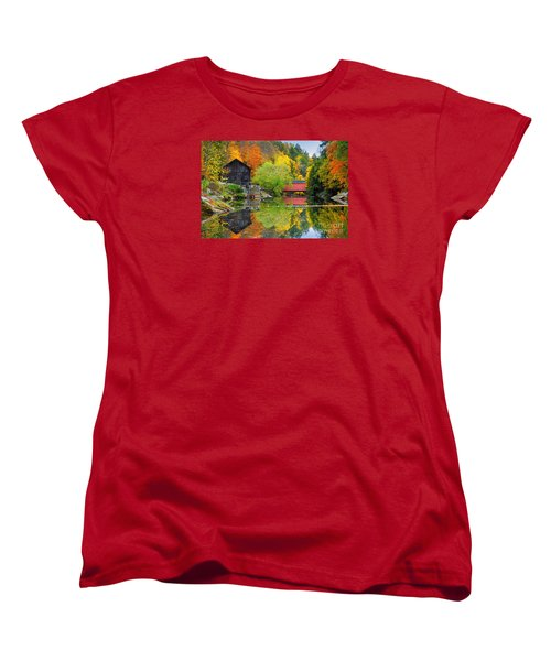 Old Mill In The Fall  Women's T-Shirt (Standard Cut) by Emmanuel Panagiotakis
