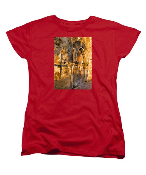 Old Mission Cross Women's T-Shirt (Standard Cut) by Dennis Cox WorldViews