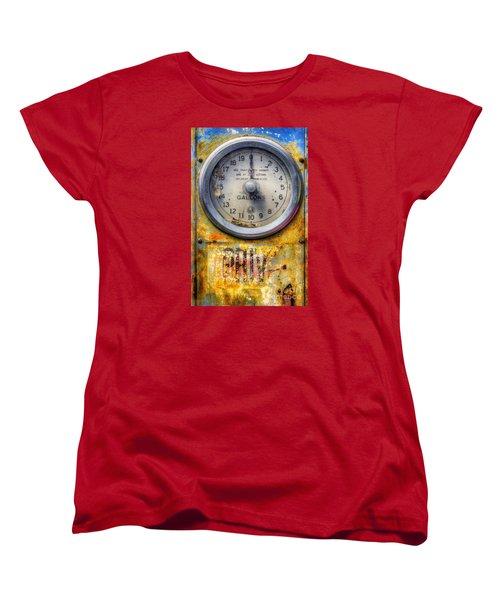 Old Petrol Pump Gauge Women's T-Shirt (Standard Cut) by Ian Mitchell