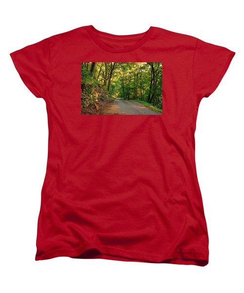 Women's T-Shirt (Standard Cut) featuring the photograph Old Plank Road by Cricket Hackmann