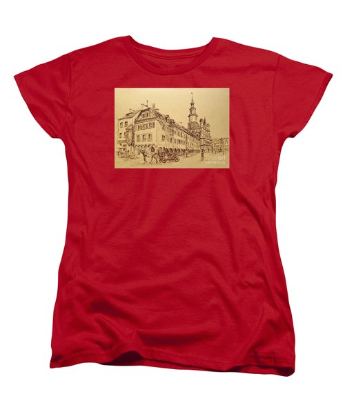 Old Poznan Drawing Women's T-Shirt (Standard Cut)