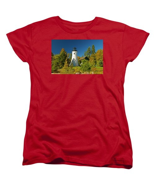 Old Presque Isle Lighthouse_9488 Women's T-Shirt (Standard Cut) by Michael Peychich