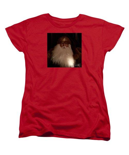 Old Saint Nick Women's T-Shirt (Standard Cut) by Patricia E Sundik