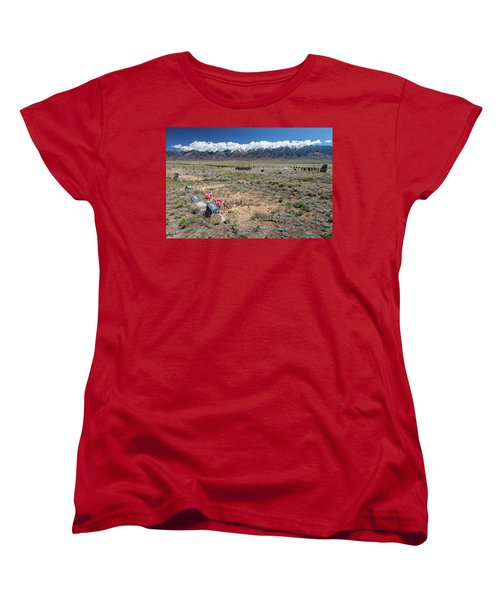 Old West Rocky Mountain Cemetery View Women's T-Shirt (Standard Cut) by James BO Insogna