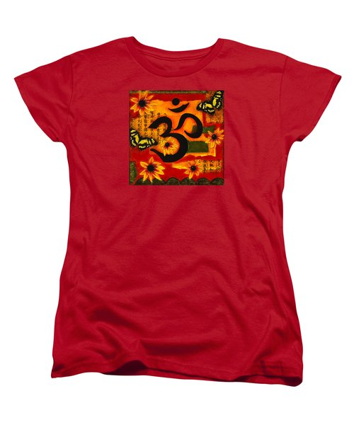 Women's T-Shirt (Standard Cut) featuring the mixed media Om by Gloria Rothrock