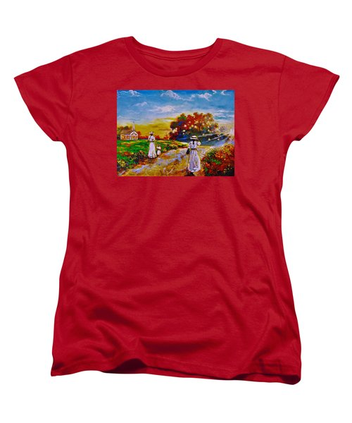 Women's T-Shirt (Standard Cut) featuring the painting On My Way Home by Emery Franklin