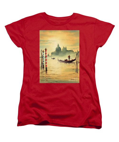 On The Grand Canal Venice Italy Women's T-Shirt (Standard Cut) by Bill Holkham