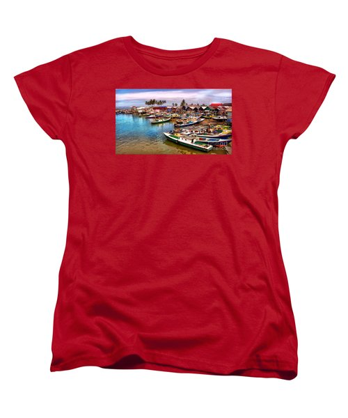 On The Shore Women's T-Shirt (Standard Cut) by Charuhas Images