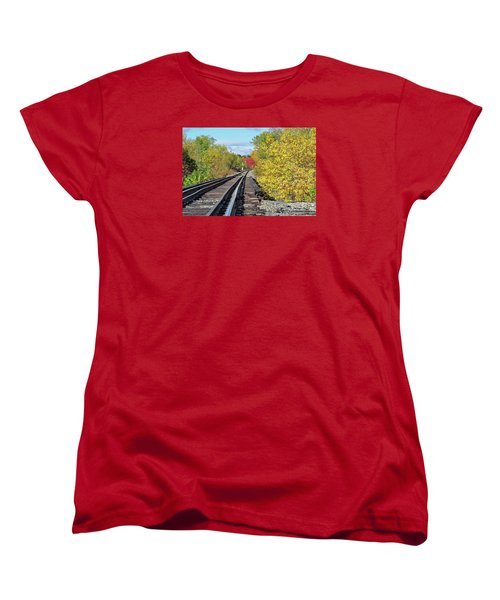 Women's T-Shirt (Standard Cut) featuring the photograph On To Fall by Glenn Gordon