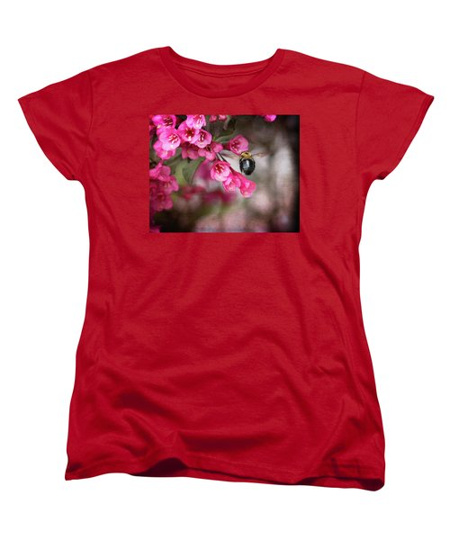 On Wine And Roses Weigela - 2 Women's T-Shirt (Standard Cut) by Debra Martz