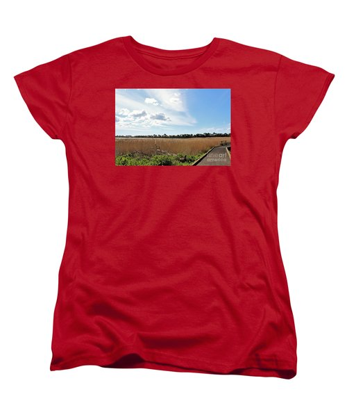 One Beautiful Day... Women's T-Shirt (Standard Cut) by Katy Mei