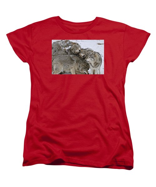 Women's T-Shirt (Standard Cut) featuring the photograph One Big Happy Family by Michael Cummings