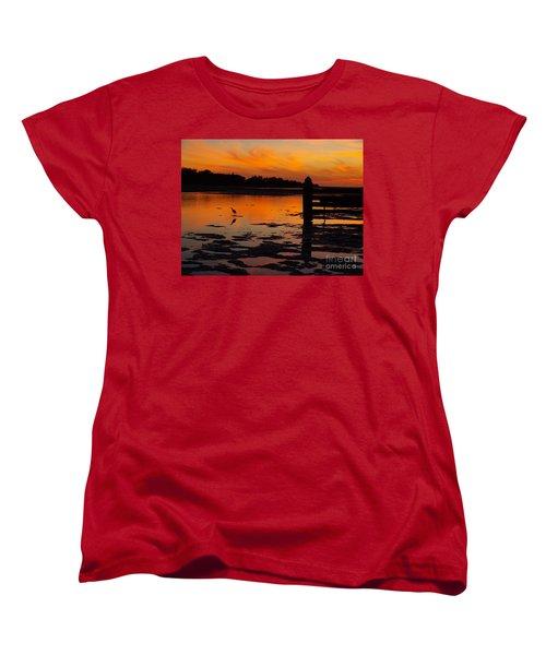 Women's T-Shirt (Standard Cut) featuring the photograph One Bird by Trena Mara