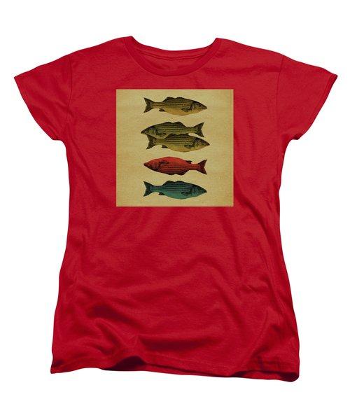 One Fish, Two Fish . . . Women's T-Shirt (Standard Cut) by Meg Shearer