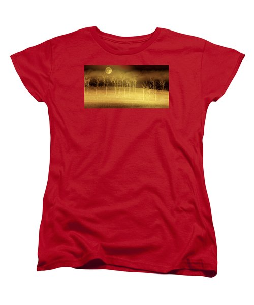 Only At Night Women's T-Shirt (Standard Cut) by Holly Kempe