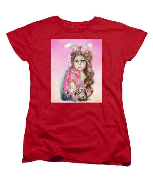 Only Friend In The World - Bunny Women's T-Shirt (Standard Cut) by Sheena Pike