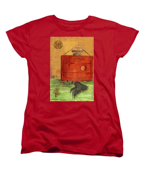 Women's T-Shirt (Standard Cut) featuring the painting Opium by P J Lewis