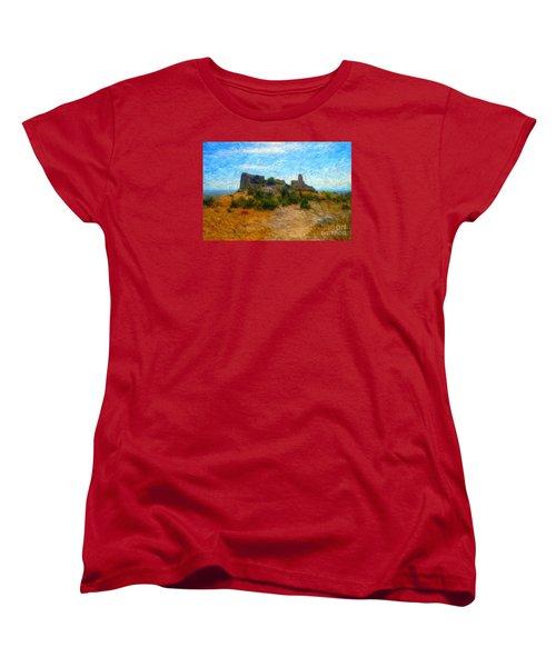 Opoul Castle Ruins II Women's T-Shirt (Standard Cut) by Gerhardt Isringhaus