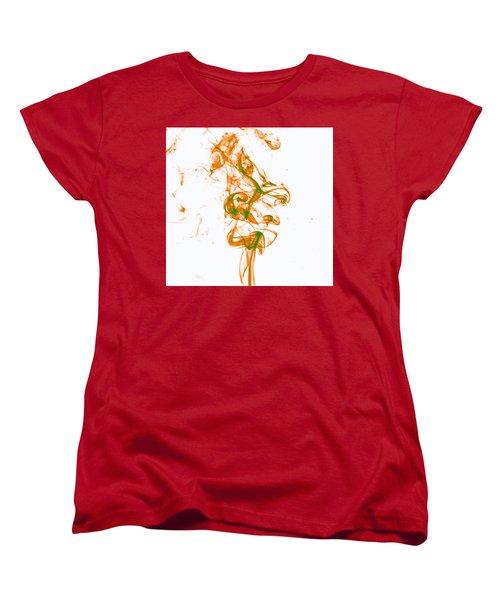 Orange And Green Women's T-Shirt (Standard Cut) by Rainer Kersten