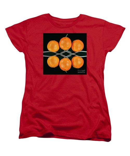 Orange Balance Women's T-Shirt (Standard Cut) by Shirley Mangini