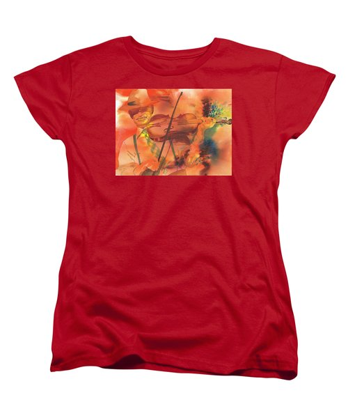 Orange Blossom Special Women's T-Shirt (Standard Cut) by Tara Moorman