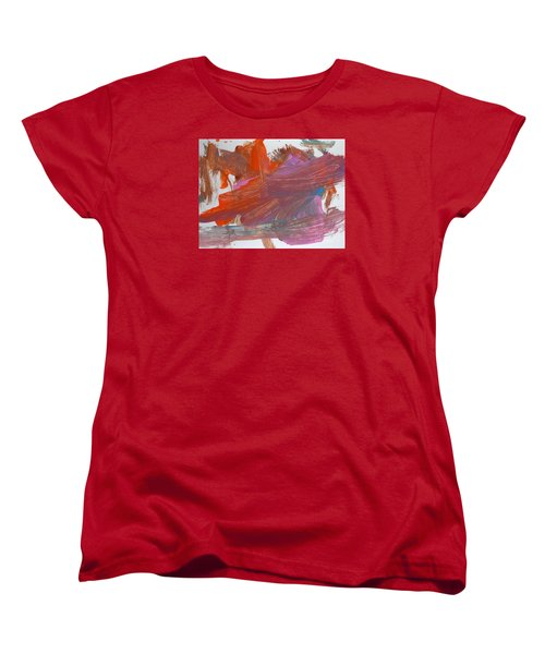 Women's T-Shirt (Standard Cut) featuring the painting Orange By Emma by Fred Wilson