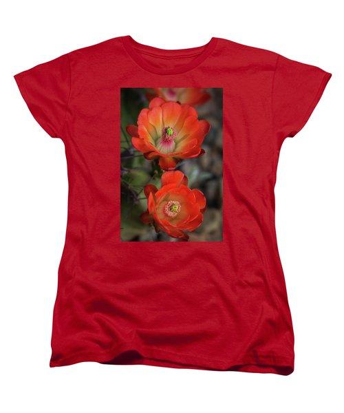 Women's T-Shirt (Standard Cut) featuring the photograph Orange Claret Dreams  by Saija Lehtonen