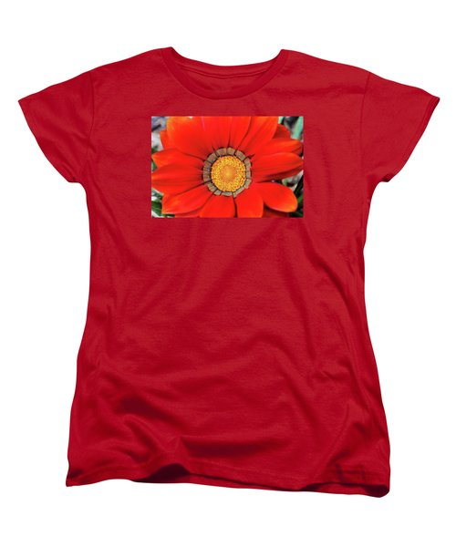 Orange Gazania With Texture Women's T-Shirt (Standard Cut) by Trina Ansel