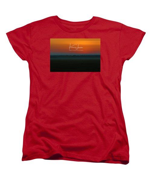 Women's T-Shirt (Standard Cut) featuring the photograph Orange Mara Dawn by Karen Lewis